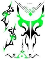 Spaz Stix SIC006 Green Tribal Exterior Decal Sheet - 1