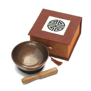 "4"" Tibetan Longevity Meditation Bowl with Box"