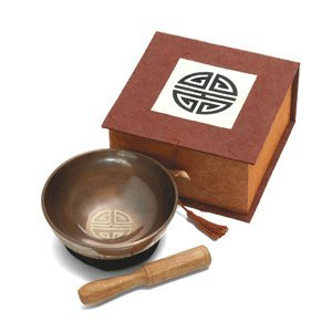 "4"" Tibetan Longevity Meditation Bowl with Box"