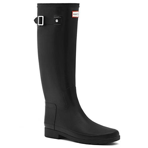 Womens Hunter Original Refined Waterproof Snow Wellingtons Rain Boots - Black - 7 (Hunter Rain Boots Ladies compare prices)