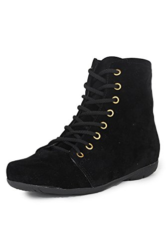 Sakar-Womens-Designer-Casual-Suede-Lace-Up-Boots