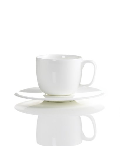 Hotel Collection White China Espresso Cup & Saucer (Hotel Dinnerware compare prices)