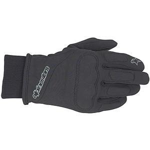 Alpinestars C-1 Windstopper Gloves , Distinct Name: Black, Size: 2XL, Gender: Mens/Unisex, Primary Color: Black, Apparel Material: Textile 352009102XL