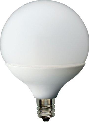 Ge Lighting 62990 Energy Smart Led 1.8-Watt (15-Watt Replacement) 75-Lumen G16.5 Light Bulb With Candelabra Base, 1-Pack
