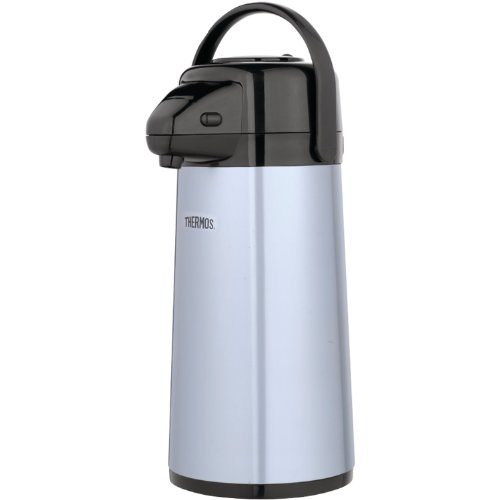 Thermos Insulated Service 2qt Glass Vacuum Pump Pot Gray Metallic - Thermos PP1920TRI2