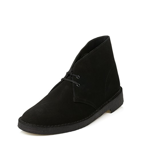pictures of Clarks Mens Black Desert Suede Boots-UK 7.5