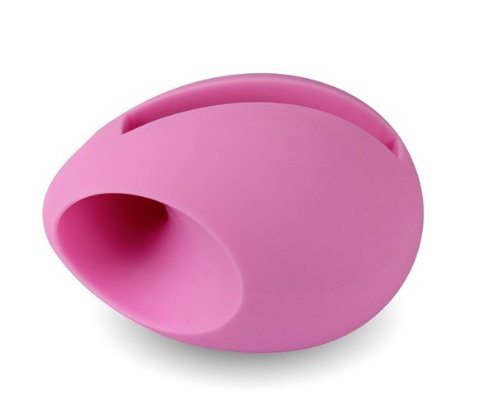 Image of New Style Egg Shaped Stand Speaker Phone Music Base Speaker Amplifier for Iphone 4/4S Pink (B008U61QN6)