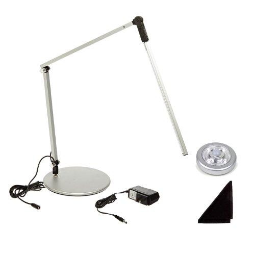 Z-Bar Mini Cool Light LED Silver Desk Lamp  Bonus