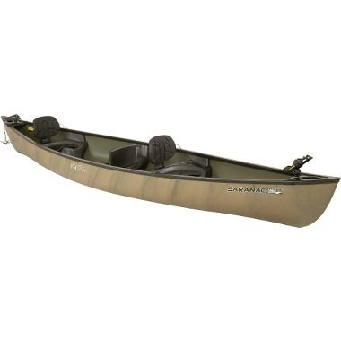 Old Town Saranac 160 XT Angler Recreational Fishing Canoe with Padded Seats, Camo, 16-Feet