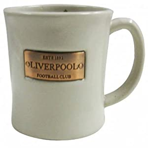 Liverpool FC Crest Mug with Brass Plaque