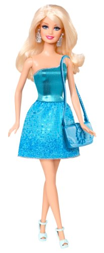 Barbie Glitz Doll, Blue Dress - 1