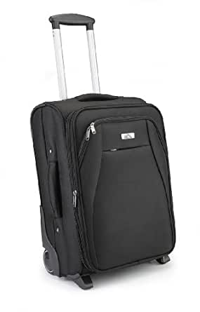 "Cabin Max Black Executive Trolley Flight Approved Hand Luggage- 20"" high, 41l case - Black"