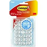 Command Decorating Clips, Clear, 40-Clip