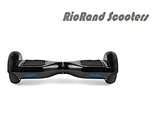 RioRand Two Wheels Smart Self Balancing Scooters Electric Drifting Board Personal Adult Transporter with LED Light (Black)