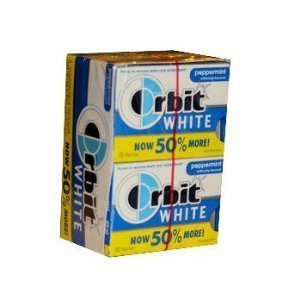 Amazon.com : Orbit White Peppermint - 8 packs of 18 pieces ...