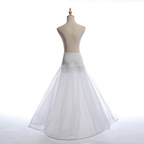 Remedios 1 Hoop Bridal Petticoat Underskirt For A Line Wedding DressWhiteL XL Apparel