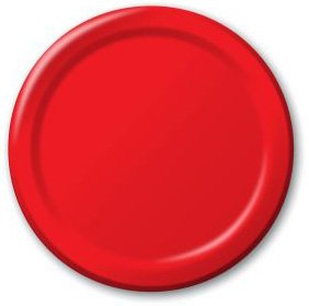 (10pks Case) Creative Converting 791031B Classic Red Luncheon Plate, Solid