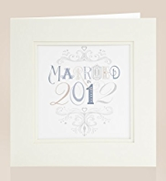 Frame It Married In 2012 Wedding Card