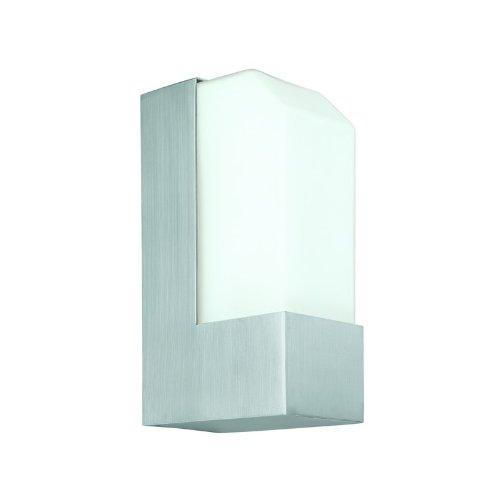 Csl Lighting Ss1040-Sa Observe 1-Light Cfl Ada Energy Star Wall Mount, Satin Aluminum Finish With Opal Glass Diffuser