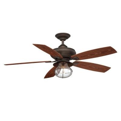 Hampton Bay Sailwind II 52 in. Indoor/Outdoor Oil Rubbed Bronze Ceiling Fan with Wall Control (Bathroom Ceiling Fan Accessories compare prices)