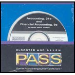 Power Accounting Systems Software (P.A.S.S.) CD-ROM for Warren/Reeve/Fess' Financial Accounting, 8th, Managerial Accounting, 8th, and Corporate Financial and Managerial Accounting, 8th (0324205104) by Warren, Carl S.