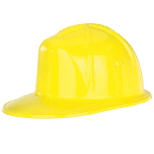 Beistle Company - Yellow Plastic Construction Helmet - 1