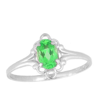 Teens Jewelry - Sterling Silver August Birthstone Ring (size 4)