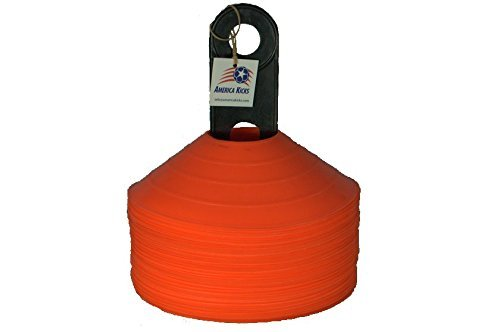 Disc Cones - Set of 50 Orange With Carrier by America Kicks (Disc Cone Sets compare prices)