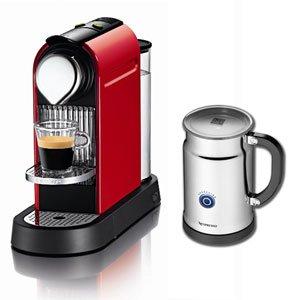 ネスレ ネスプレッソ ネスプレッソコーヒーメーカー レッドNespresso CitiZ(シティズバンドルセット) C110RE-AOP