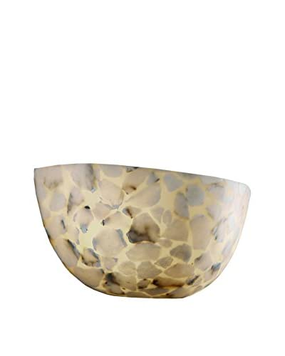 Justice Design Group Alabaster Rocks 2-Light Quarter Sphere Wall Sconce, Shaved Alabaster