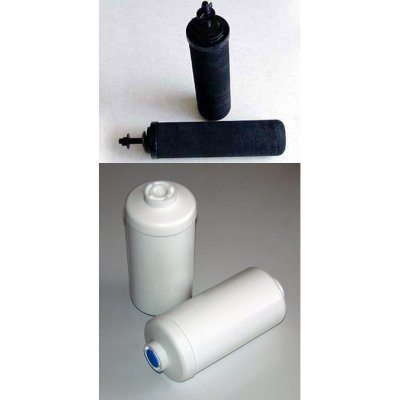 2 Black Berkey Replacement Filters & 2 Pf-2 Fluoride Filters