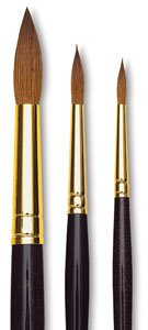 da Vinci Watercolor Series Paint Brush, Round Harbin Kolinsky Red Sable with Black Handle, Size 10 (1526Y-10) (Tamaño: Size 10)