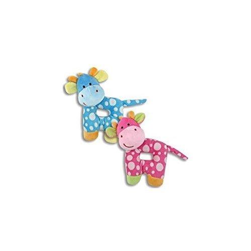 "PLUSH GIRAFFE RATTLES 7"" Pink/Toys/Crib Toys/Baby Shower"