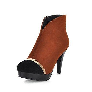 Y&T Moda scamosciata stivaletti tacco a spillo con split Partito comune / EveningShoes (altri colori) , black , 34