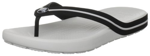 Crocs Unisex-Adult Crocband Flipswitch Sandal White/Black 11175-103-176 6 UK