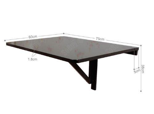 Tavolo da muro pieghevole in legno 75 60cm colore nero so fwt01 sch - Tavolo da muro pieghevole ...
