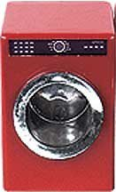 Dollhouse Miniature Red Front Loading Dryer front-612977