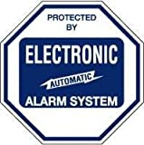 SECURITY SIGN - #102 Burglar Warning Sign - Protected By Burglar Alarm System