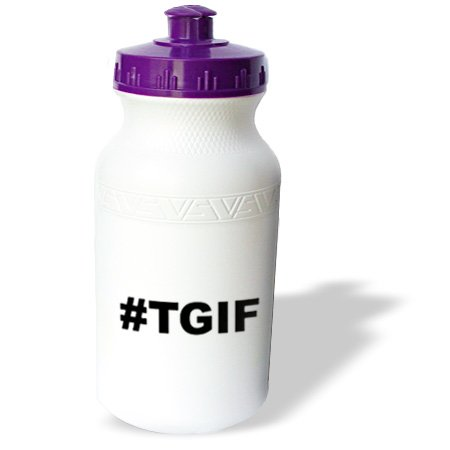 Wb_107338_1 Evadane - Funny Quotes - #Tgif. Thank God It'S Friday, Black Hashtag - Water Bottles