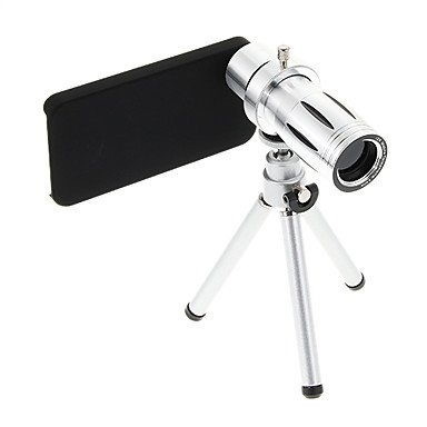 Limme Zoom 12X Telephoto Metal Cellphone Lens With Tripod For Iphone 4S