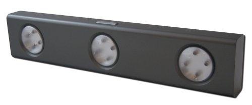 Rite Lite Lpl700 12-Led 3-Independent-Light-Head Wireless Under-Cabinet Light, Grey