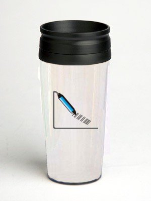 16 oz. Double Wall Insulated Tumbler with bar code - Paper Insert