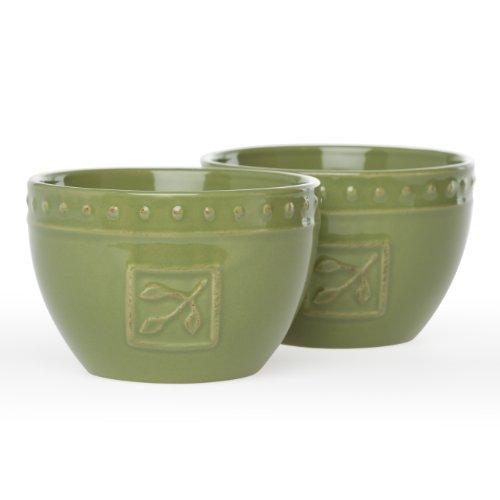 Signature Housewares 5-Inch Stoneware Bowl, 24-Ounce, Oregano, Set Of 2