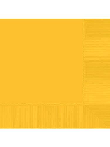 Amscan Yellow Sunshine 2-ply Beverage Napkins 50/pkg