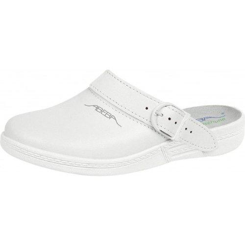 abeba-cucina-zoccoli-scarpe-bagno-scarpe-vera-pelle-bianco-white-white-39