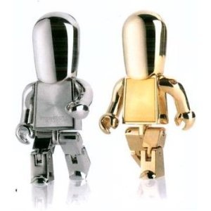 High Quality 8 GB Metal Robot Shape USB Flash Memory Drive (SILVER) from T &  J