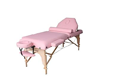 """BestMassage 30"""" Pink Reiki Portable Massage Table Package(Includes FREE Carrying Case, Bolster, Adjustable Head Rest)"""