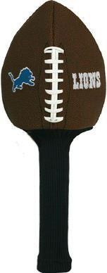 NFL Football Golf Headcover: Detroit Lions stylish simple colorful leaves pattern flax square shape pillowcase without pillow inner