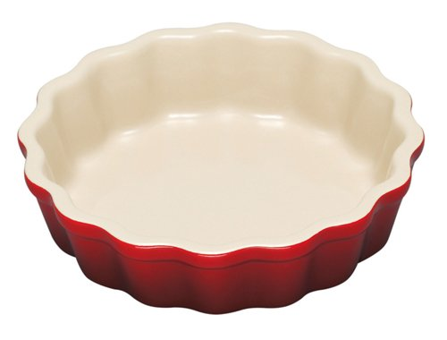 Le Creuset Stoneware 7-Ounce Petite Tart Dish, Cerise (Cherry Red)
