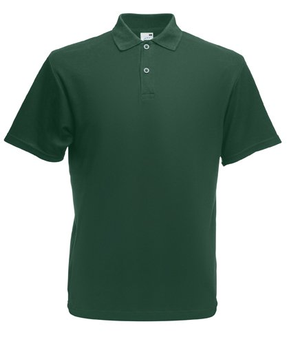 Fruit of the Loom Mens Lightweight Polo Shirt Bottle green Small